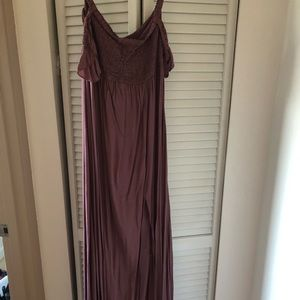 NEW Mauve maxi with draping sleeves